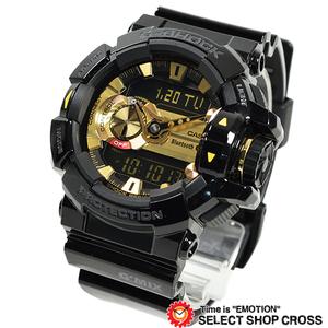 モバイルリンク G-SHOCK 腕時計 メンズ GBA-400-1A9 ブラックゴールド G'MIX Bluetooth搭載 MINT CONDITION スマートフォンリンク