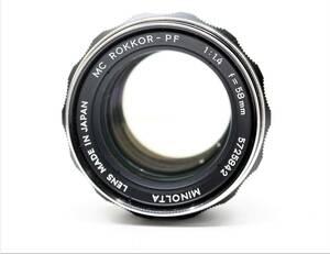 ★希少品!良品★MINOLTA ミノルタ MC ROKKOR-PF 58mm F1.4 銘玉! ミノルタ 緑のロッコール!! OK2692