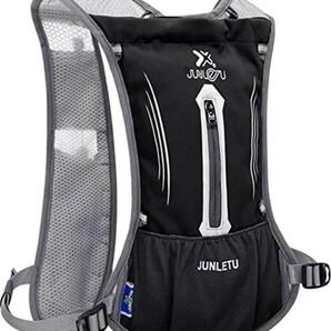 超軽量 ランニングバッグ サイクリングバッグ 自転車 バッグ バックパック リュック 光反射 通気 防水 黒と青の二色から選べる