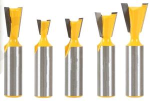【超特価】アリ錐 ルータービット 5個スペシャルセット★12mm or 1/2shank ダブテイル、アリ錐大入れ加工
