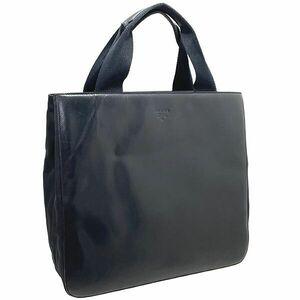 ● プラダ トートバッグ レザー 革 ナイロン ブラック 黒 PRADA ハンドバッグ 手提げ バッグ バック カバン 鞄 NERO