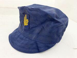 (フy407) 国鉄 鉄道 制帽 帽子 機関士 作業帽 ワークキャップ 日本国有鉄道 当時物 電車 コレクション コレクター 放出品 レア 希少