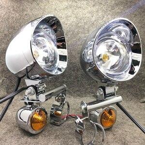 バイク オートバイ 汎用 ヘッドライト ウィンカー フォグランプ シルバー カスタム ホンダ ヤマハ カワサキ スズキ カフェレーサー