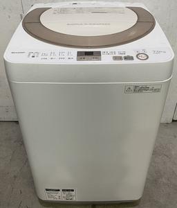 東大阪発 SHARP 全自動洗濯機 ES-GE7A-N ゴールド系 7.0kg 穴なし槽 ほぐし運転 時短コース