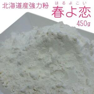 北海道産強力粉 春よ恋450g(春よ恋100%)蕎麦打ち つなぎ用小麦粉 製パン用小麦粉 そば打ちつなぎ用こむぎこ メール便対応