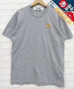 5T8917【クリックポスト対応】プレイコムデギャルソン AZ-T216 ゴールドハートワッペン 半袖Tシャツ PLAY COMME des GARCONS MAN HEART