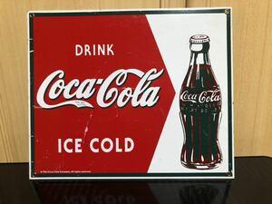 レア! コカ・コーラ Coca Cola 看板 プレート  ガレージ ビンテージ インテリア 送料込み