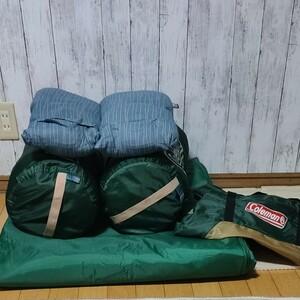 [アウトドア、キャンプ]Coleman 寝袋 封筒型シュラフ インナーマットセット