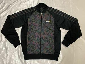 アディダス トレフォイル adidolor トラックトップジャケット Lサイズ ブラック 3本ライン 古着 adidas ジャージ アディカラー 黒 ATP
