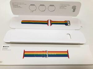 Apple watch 38mm40mm 純正品 プライドエディション ウーブンナイロン スポーツ バンド ベルト アップルウォッチ Edition