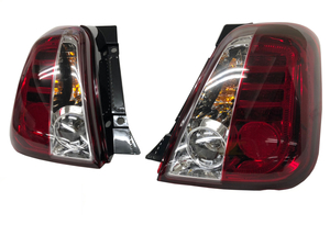 FIAT500・ABARTH500 LEDテール クリアー&レッド【AutoStyle】新品/フィアット/