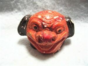 【福】 獅子頭土人形  しし シシ  郷土玩具