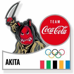 コカ・コーラ ピンバッチ 東京2020 オリンピック 秋田県