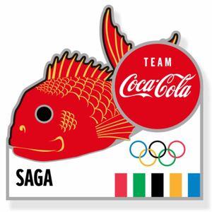 コカ・コーラ ピンバッチ 東京2020 オリンピック 佐賀県