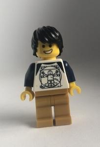 即決 新品 未使用 レゴ LEGO ミニフィグ ミニフィギュア シティ ラグランTシャツの男の子 ニヤリ顔 困り顔