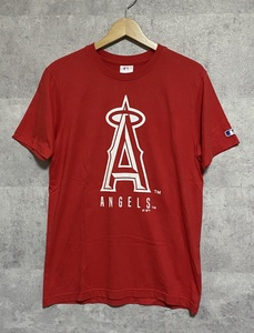 ▽MLB ANGELS ロサンゼルス・エンゼルス 半袖Tシャツ M 赤 ロゴ 野球 メジャーリーグ 大谷翔平