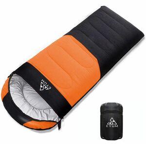 寝袋 シュラフ 封筒型 軽量 超暖かい 210T防水 コンパクト 簡単収納