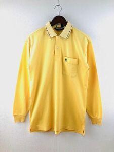 Munsingwear GrandSlam マンシングウェア メンズ 長袖 ポロシャツ イエロー Mサイズ 長袖シャツ カジュアル golf ゴルフ 吸水速乾 機能素材