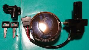 最後の1個 CBX400F キー セット 本物の純正新品額縁キー、タンクキャップ付き 鍵しっぽ本舗 キーボックス キーセット