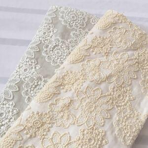 国産高級刺繍レース 豪華花刺繍 コットンレース 綿レース 刺繍生地 ハギレ