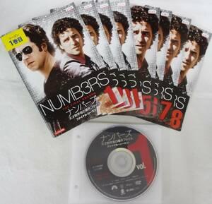 送料無料 レンタル落ち中古DVD ナンバーズ 天才数学者の事件ファイル ファイナル・シーズン 全8巻セット