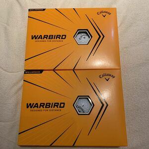 2021年モデル ホワイト 2ダース(24個) キャロウェイ・ウォーバード Callaway WARBIRD ゴルフ ボール 送料無料