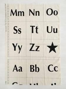 USAコットン ビッグアルファベット柄 カットクロス 53cm幅×78cm オフホワイト moda fabrics アメリカンキルト 未使用