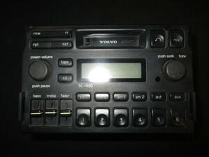 ■ボルボ 850 カセットデッキ 中古 8B5252W 3533316 部品取あり テープデッキ カーステ オーディオ スピーカー ラジオ AM FM アンテナ ■