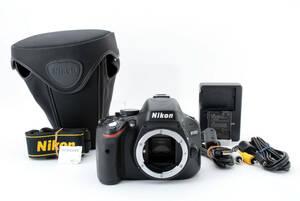ニコン Nikon D5100 16.2MP 一眼レフ デジタル カメラ ボディ ケース SDカード64GB付 美品 845583