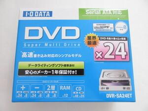新品★IO DATA★24倍速書き込み対応 内蔵型DVDドライブ★DVR-SA24ET 白