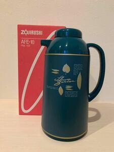 ZOJIRUSHI AFE-10 昭和レトロ パインポット 魔法瓶 1L 日本製