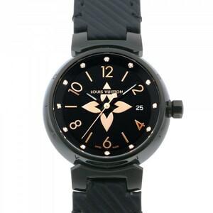 ルイ・ヴィトン LOUIS VUITTON タンブール QA047Z ブラック文字盤 中古 腕時計 レディース