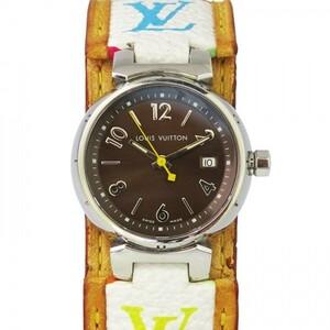 ルイ・ヴィトン LOUIS VUITTON タンブール ブラウン文字盤 中古 腕時計 レディース
