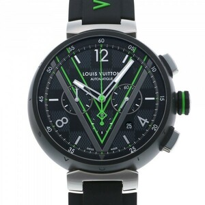 ルイ・ヴィトン LOUIS VUITTON QBB160 ブラック文字盤 中古 腕時計 メンズ