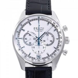 ゼニス ZENITH W209342 シルバー文字盤 中古 腕時計 メンズ