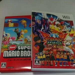 Wiiソフト スーパーマリオブラザーズ イナズマイレブン ストライカーズ 2012