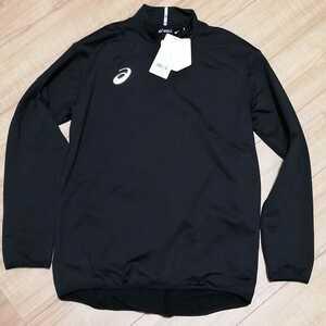 サッカー アシックス ウェア メンズ XLサイズ 黒ブラック トレーニング スポーツ ハイネック 裏起毛 長袖シャツ