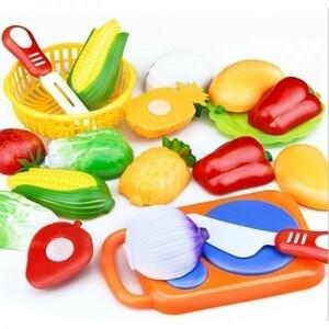 希少☆ミ 知育玩具 プラスチック おもちゃ 幼児期の知育トレーニングに☆ フルーツと野菜 12個セット 初めてのおままごと プレゼント
