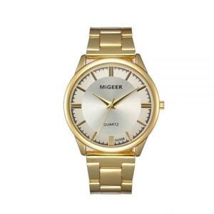 希少☆ミビッグレロジオ高級ブランドリロイゴールド腕時計メンズステンレス鋼デイデイト男性腕時計社長トップ男性時計レロジオ