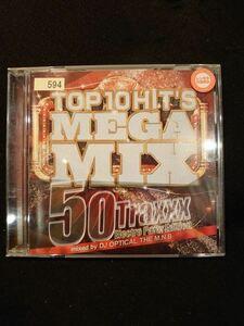 609 レンタル版CD Top 10 Hits Mega Mix ~50Traxxx Electro Party Edition/DJ Optical The M.N.B. 594