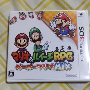 マリオ&ルイージRPGペーパーマリオMIX 3DSソフト 3DS ニンテンドー3DS マリオ&ルイージRPG