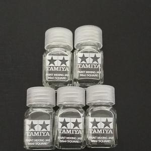 タミヤ スペアボトルミニ 角瓶 5個セット