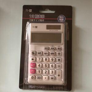 手帳サイズ電卓 12桁表示 SL−5220WL