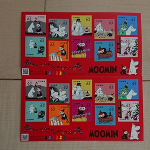 ムーミン切手シート2枚セット