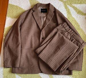 niko and ニコアンド セットアップ スーツ ジャケット パンツ ツイード 千鳥格子 茶