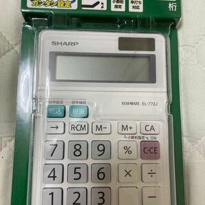 シャープ ミニナイスサイズ 電卓 EL-772JX 1個