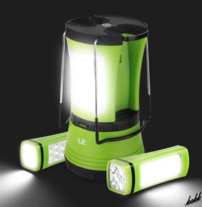 【着脱式懐中電灯】 LED ランタン 電池充電器一式セット 2段階調光 USB充電式 電池式 懐中電灯 キャンプ アウトドア 防災用ライト