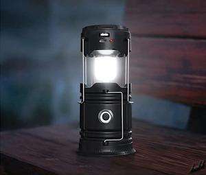 【3in1折りたたみ式ランタン】 LED ランタン 超軽量 ソーラー充電 交換電池付き 防水機能 懐中電灯 モバイルバッテリー アウトドア
