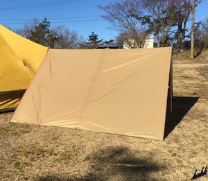 【設営に必要な物一式セット】 スクエアタープ 400×300cm 一式セット 防水 遮熱 UVカット コンパクト ツーリング キャンプ アウトドア