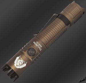 【USB充電式小型ライト】 LED 懐中電灯 6つの照明モード 照射距離最大250m 防水 小型 軽量 アウトドア 防災用ライト ブラウン